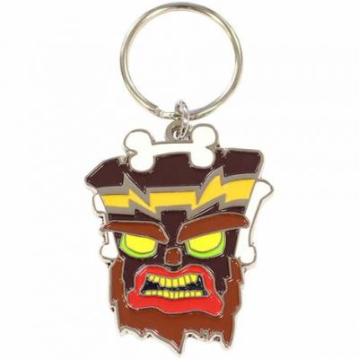 crash-bandicoot-uka-uka-metal-keychain